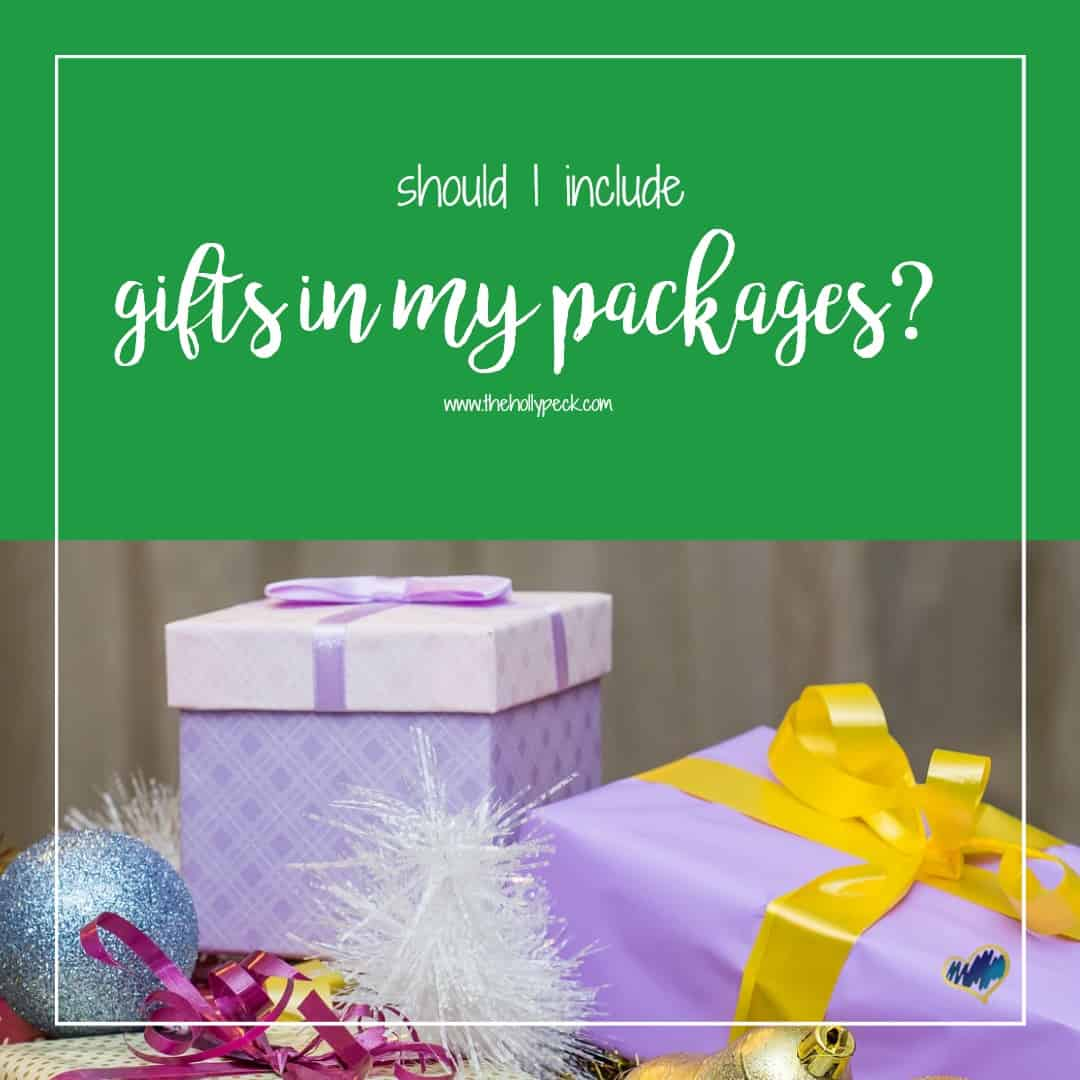 Should I Include Gifts in My Packages?