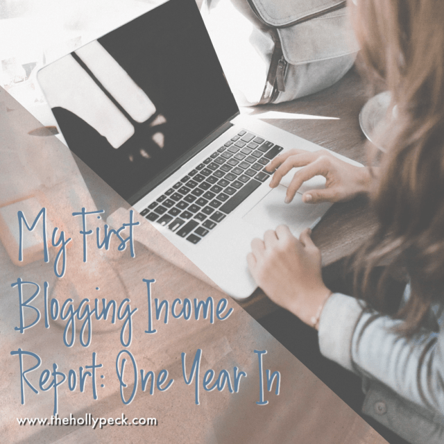 My First Blogging Income Report: One Year In